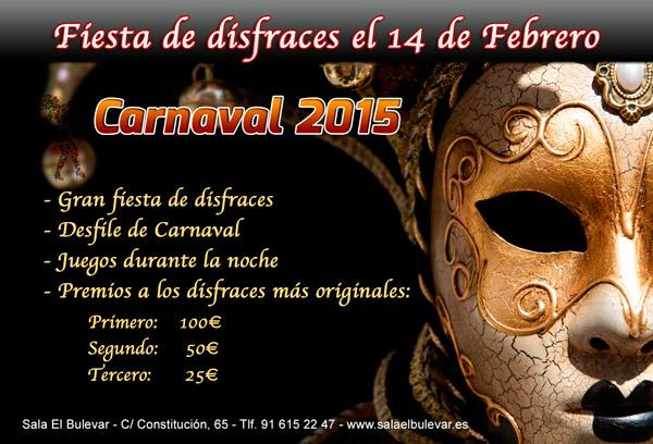 carnalval 2015 en la sala El Bulevar
